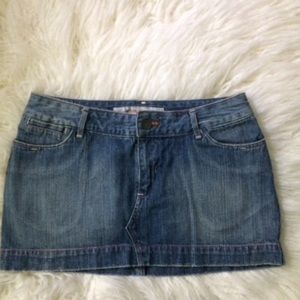Mossimo Denim Mini Jean Skirt Size 11
